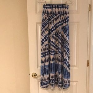 Wet seal long tie-dye skirt  size medium